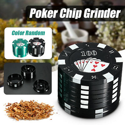 Metal Crusher 3 Layers Poker Herbal Cigarette Herb Grinder Hand Muller Gift