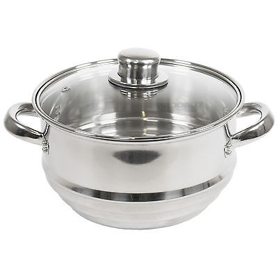 Quality Universal Stainless Steel Saucepan Food Steamer Vegetable Veg Cook Fish