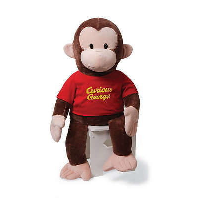 36 inch JUMBO Classic Curious George plush Red Shirt - NEW & MINT, by GUND!!