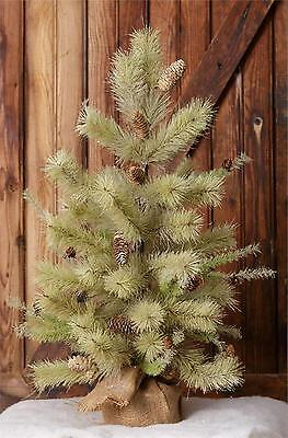 Country new antique bottle brush christmas tree / nice winter tree
