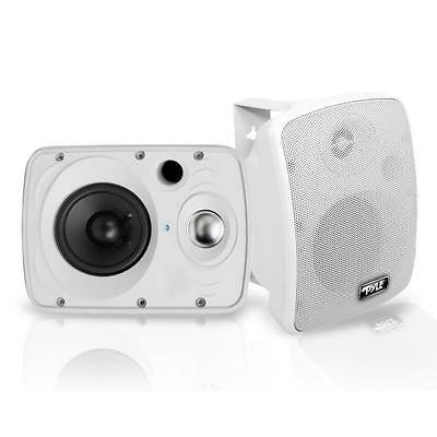 New Waterproof Bluetooth 6.5'' Indoor/Outdoor Speaker System 800 Watt White Pair
