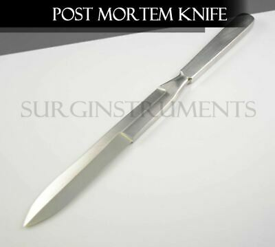 Stainless Steel Autopsy Post Mortem Disection Knife Blade - Double Edged 11""