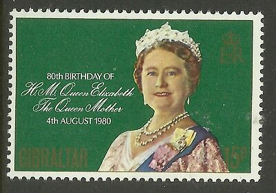 GIBRALTAR 1980 80th Birthday QUEEN ELIZABETH QUEEN MOTHER 1v MNH