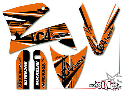 Ktm Lc4 Sxc Sm Smc Duke 620 625 640 660 | 98-07 Factory Dekor Decals Sticker
