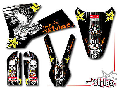 KTM SX 50 65 -2015 | SX 85 -2012 | AMA SKULL DEKOR DECALS KIT Aufkleber Sticker