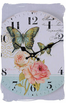 Kitchen Clock Rose Clock Wall Clock Retro Country House Style
