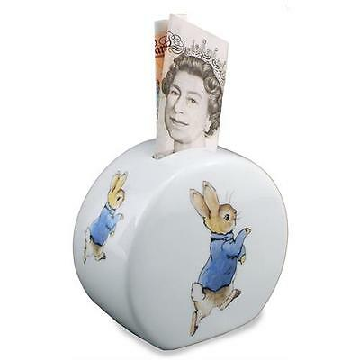 Peter Rabbit Money Box Reutter Porcelain Beatrix Potter Gift Collectable
