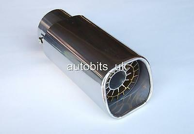 Car Vehicle Exhaust Muffler Stainless Steel Tail Pipe Chrome Trim Decorative Tip