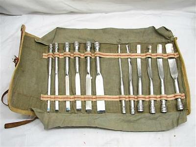 Early Surgical Set Medical Bone Surgeon's Chisel Set w/Case Orthopedic Tool