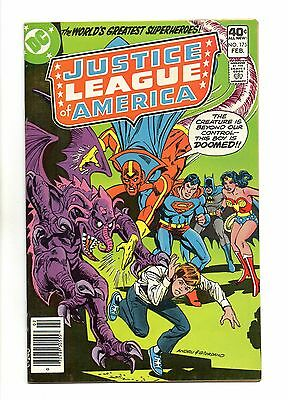 Justice League of America Vol 1 No 175 Feb 1980 (VFN+) Modern Age, Cents Copy