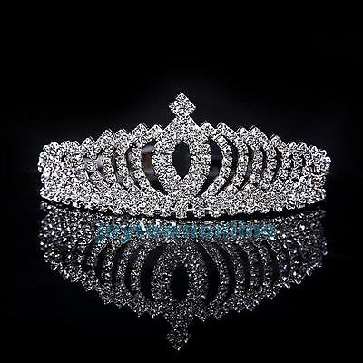Wedding Bridal Princess Rhinestone Crystal Hair Accessory Tiara Crown Hairband