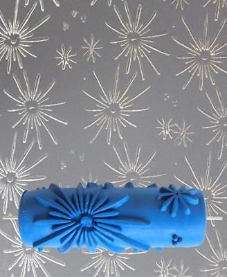 15cm Painting Roller Painter DIY Empaistic Flower Pattern Decoration Wall