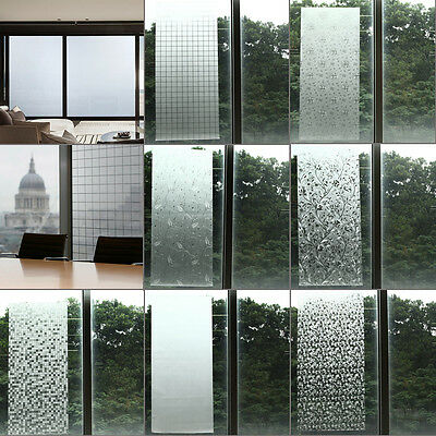 Waterproof Frosted Privacy Bedroom Bathroom Window Glass Film Sticker 45*100cm