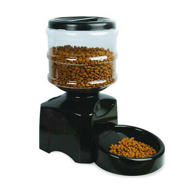 Automatic Pet Food Feeder Programmable Timer for Dog and Cat w/ Portion Control