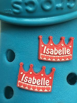 2 Isabelle Shoe Charms For Crocs & Jibbitz Wristbands. Free UK P&P.
