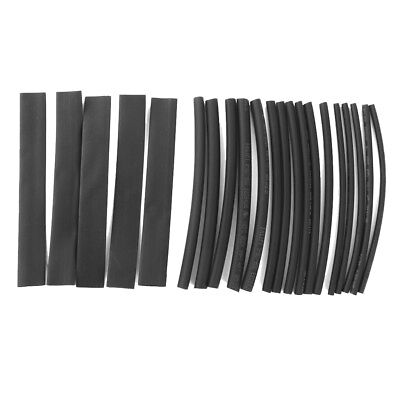20PCS Heat Shrinkable Tubing Tube Wire Electrical Cable Sleeving Wrap Black