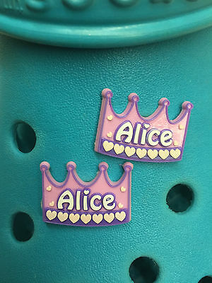 2 Girl's Names Shoe Charms For Crocs & Jibbtz Wristbands. Lots To Choose From.