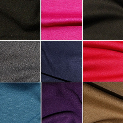 Ponte Roma Fabric  Jersey Stretch Viscose Spandex Soft Knit  150cm Wide