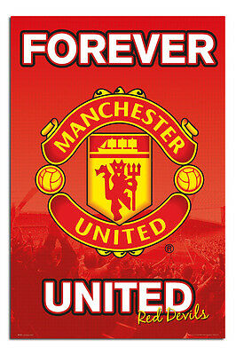 Manchester United Forever Poster New - Maxi Size 36 x 24 Inch