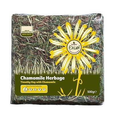 BURGESS EXCEL CAMOMILE HERBAGE 500G X 2 calming timothy hay chinchilla rabbit