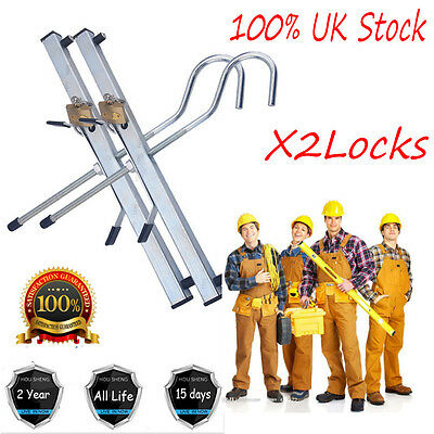 With 2 Locks Kit Ladder/Steps Clamp Pair For Securing Ladders to Roof Rack Safe
