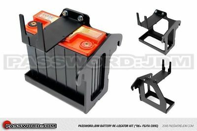 Password JDM Battery Relocator 06-11 Honda Civic Si Only (Battery NOT INCLUDED)
