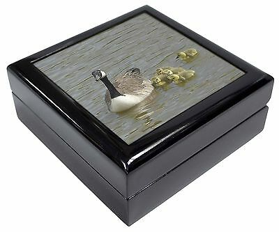 Canadian Geese and Goslings Picture Jewellery Box Christmas Gift, AB-G1JB