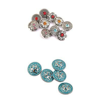 15pcs Assorted Snaps On Charm Buttons for Noosa Leather Bracelets Jewelry