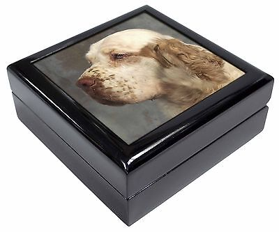 Clumber Spaniel Dog Picture Jewellery Box Christmas Gift, AD-CS1JB