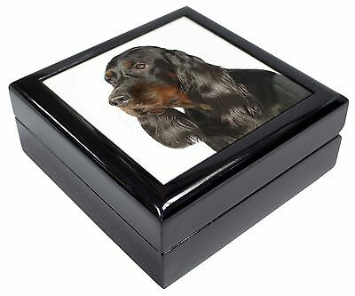 Gordon Setter Dog Picture Jewellery Box Christmas Gift, AD-GOR1JB