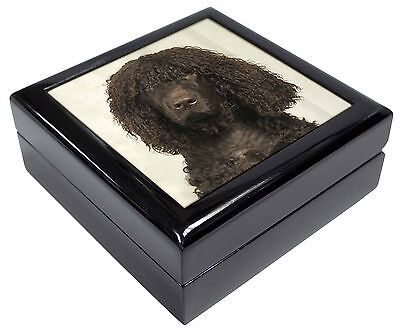Irish Water Spaniel Dog Picture Jewellery Box Christmas Gift, AD-IWSJB