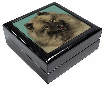 Keeshond Dog Picture Jewellery Box Christmas Gift, AD-KEE1JB