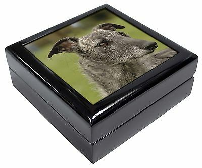 Lurcher Dog Picture Jewellery Box Christmas Gift, AD-LU1JB