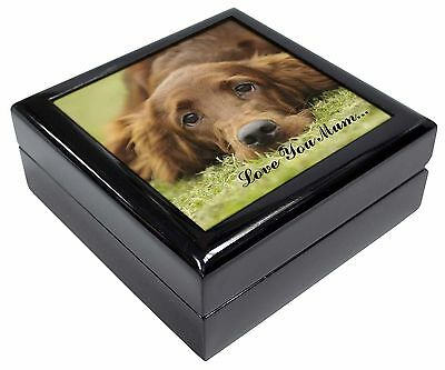 Red Setter Dog 'Love You Mum' Picture Jewellery Box Christmas Gift, AD-RS2lymJB