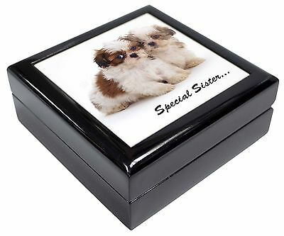 'Special Sister' Shih-Tzu Dogs Picture Jewellery Box Christmas Gift, AD-SZ10JB