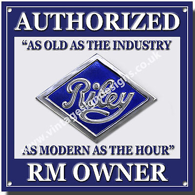 Riley Authorized Rm Owner Metal Sign.classic British Riley Cars.vintage Riley.