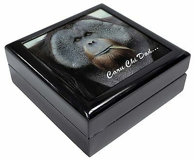 Welsh Orangutan 'Caru Chi Dad' Keepsake/Jewellery Box Christmas Gift, AM-2ccdJB