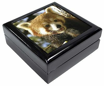 Red Panda Bear Picture Jewellery Box Christmas Gift, ARP-1JB