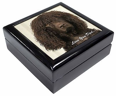 Irish Water Spaniel 'Love You Dad' Picture Jewellery Box Christmas Gif, DAD-59JB
