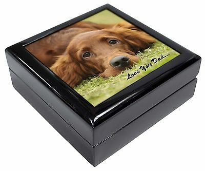 Red Setter Dpg 'Love You Dad' Picture Jewellery Box Christmas Gift, DAD-93JB