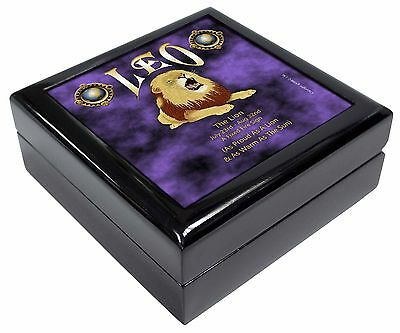 Leo Astrology Star Sign Birthday Gift Keepsake/Jewellery Box Christmas , ZOD-5JB