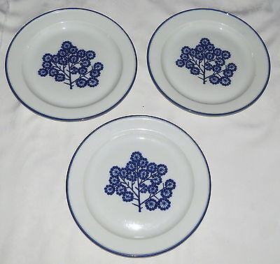 "Dansk DAN20 Norway THREE 10.1/4"" Dinner Plates"