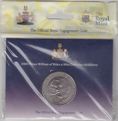 Sealed 2011 William & Catherine Base Metal £5 Crown Small Royal Mint Flatpack