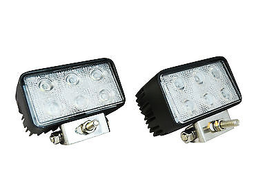 Super Bright 18W Rectangular LED Spotlights for Adventure & Touring Motorcycles