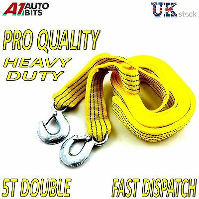 PRO QUALITY 4.5M Tow Towing Pull Rope Strap Heavy Duty Garage 5 Tons Car Van