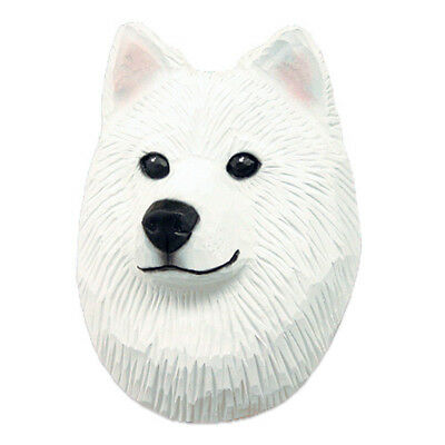 Samoyed Head Plaque Figurine