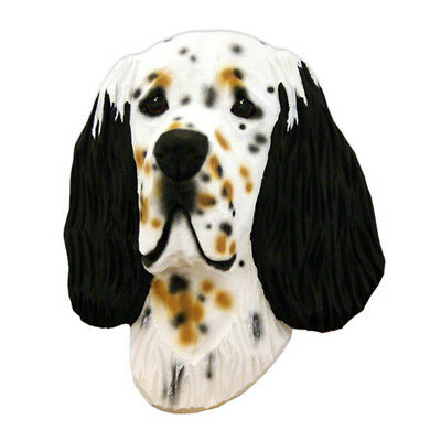 English Setter Head Plaque Figurine Tri