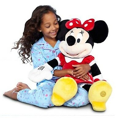 """Disney Store Deluxe Red Minnie Mouse BIG Jumbo Plush 27"""" Tall HUGE Girls Doll"""