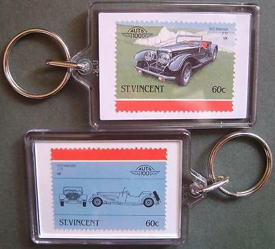 1972 PANTHER WESTWINDS J72 / J.72 Car Stamp Keyring (Auto 100 Automobile)
