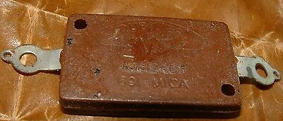 Vintage Dubilier 691 Mica capacitor 10nf 0.01uf 10000pf high voltage